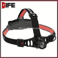 GF-8017 CE Rohs High Quality Hands free Powerful Rechargeable 18650 Battery Multifunction 10W OEM xml t6 led headlamp