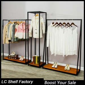 portable iron wall racks clothes shop furniture garment clothes display drying rack
