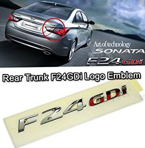 Rear Trunk F24 GDi Logo Emblem For 2011 Hyundai Sonata YF