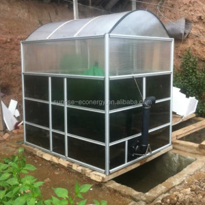 China small mini home portable cow dung treatment biogas generator plant system for generate electricity and cooking from waste