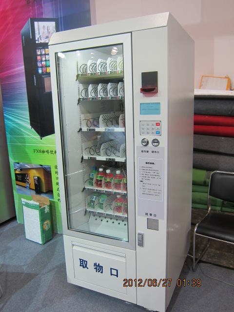 commercial cans/chips/chocolate vending machine shoes