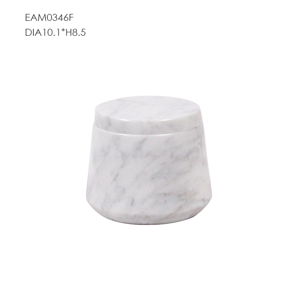 Unique marble mini carrara candle jars from craft factory direct sale