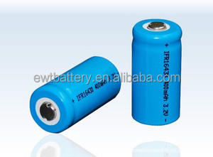 3.2v ifr16430 li-ion batteries 400mah lifepo4 rechargeable cell 16430 li ion battery