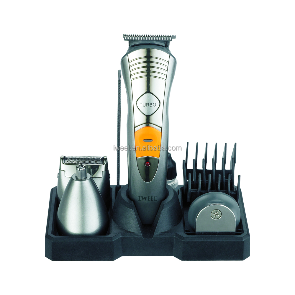 High Quality Mens Grooming Kit Wiederaufladbare Turbo Funktion Haar Bart Trimmer