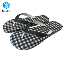 Wholesale Cheap Double Color PVC Strap Mens Rubber Beach Slippers Philippines
