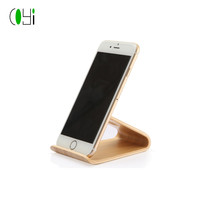 bamboo material mobile phone holder cell phone stand wooden cell phone holder 2018 new