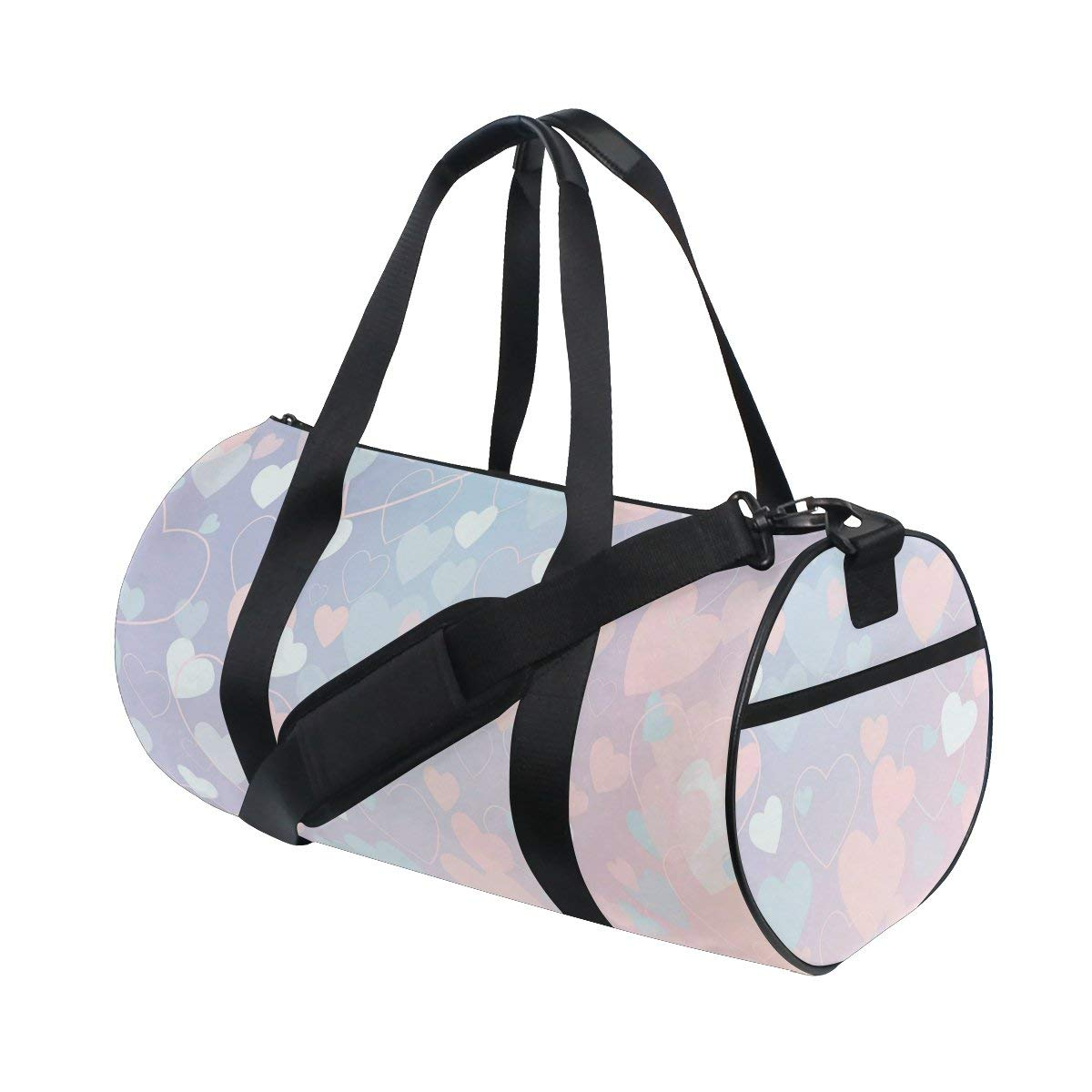 379c1c3937d9 Get Quotations · Naanle Romantic Heart Pattern Valentine Love Gym bag  Sports Travel Duffle Bags for Men Women Boys