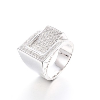 Men's Ring Aaa Cubic Zirconia Ring 925 Silver Price Per Gram ...