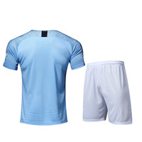 free shipping Chinese manufacturer factory Hot selling manchest top thailand quality cheap blue city custom soccer jerseys
