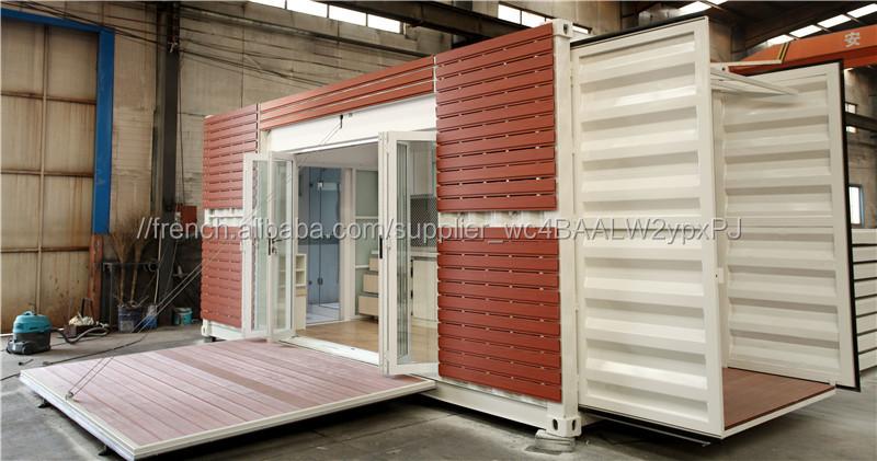 Maison module maison conteneur batiment pr fabriqu salle d 39 exposition bonne qualit maisons for Module prefabrique maison