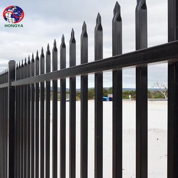 ALIBABA TRADE INSURANCE HINGE SECURITY STEEL FENCE steel tube fence square tube iron fence