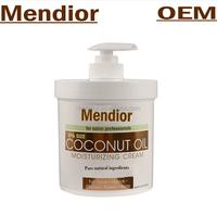 Mendior private label organic Coconut Oil Moisturizing cream ,virgin Coconut Oil for Face, Hands, Hair.