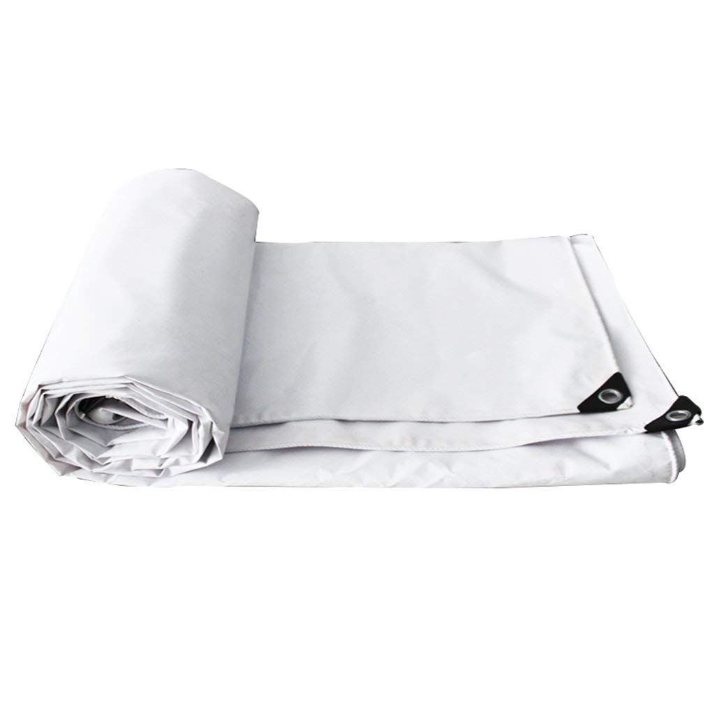 COZY HOME AAA White Tarpaulin Waterproof, Anti-mildew, Antioxidant, Tide, Outdoor Garden Farm Vehicle Covering Picnic Mat Tent Size: 2x3m