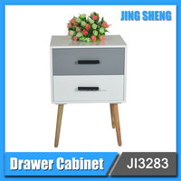 latest 2 drawer wood corner storage tool cabinet , bedroom cabinet designed for young people