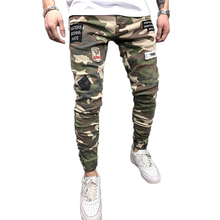 Großhandel mode männer camouflage camo skinny fit <span class=keywords><strong>jeans</strong></span> mit abzeichen