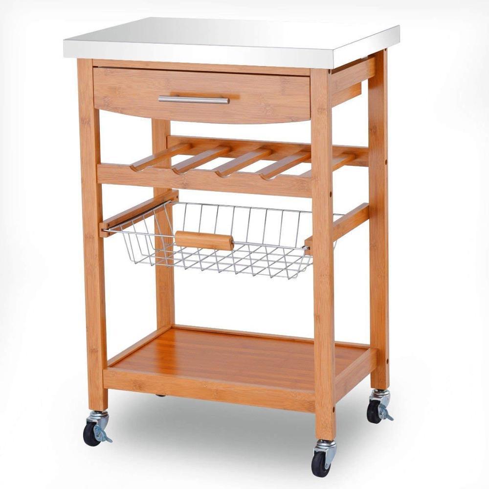 Kitchen-Trolley-Cart-Bamboo-Island-Cart-Home