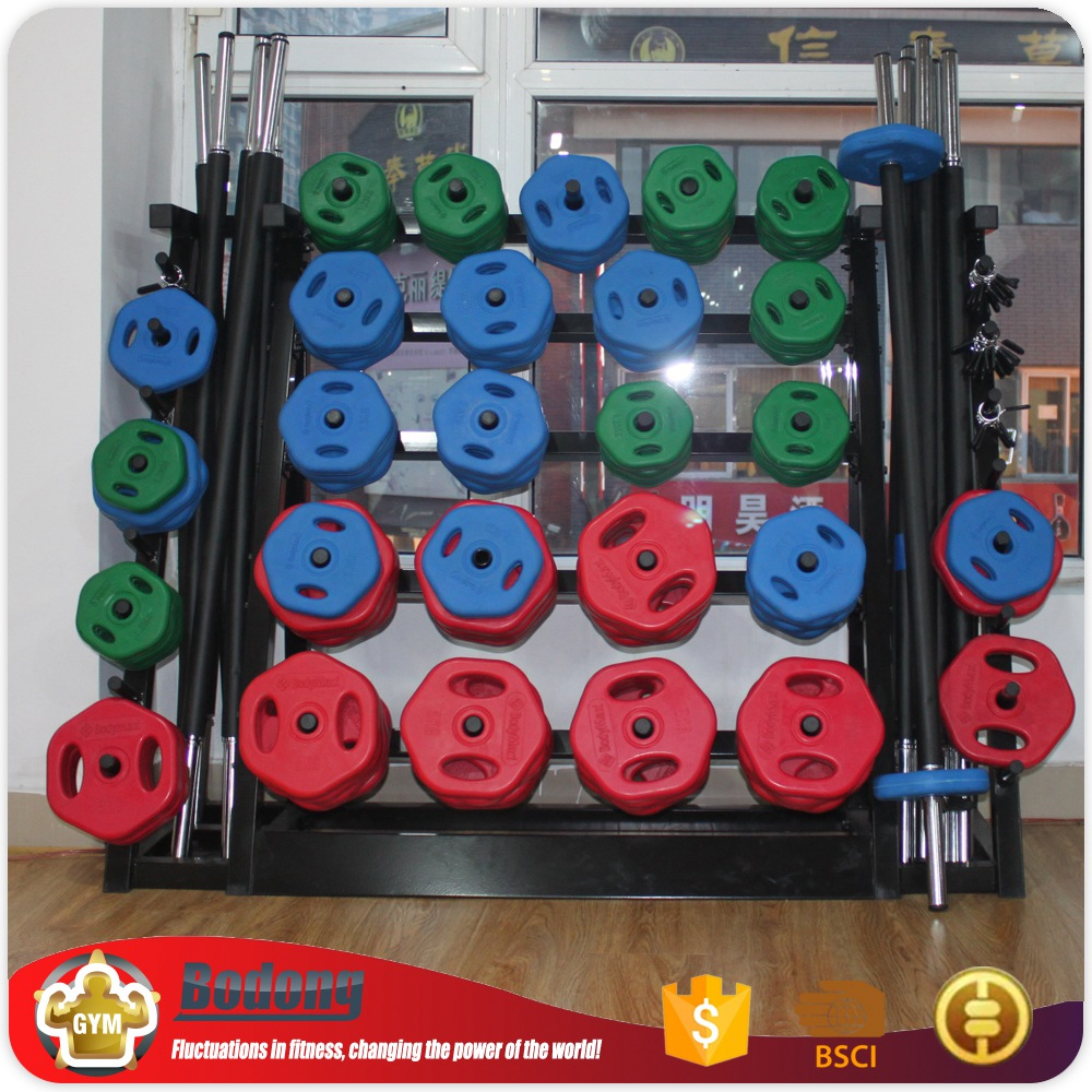 OEM factory Colored Rubber Coated Weight Plate body pump set