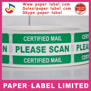 PLEASE SCAN USPS CERTIFIED MAIL Warning Stickers Labels 250roll