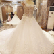 LS22261 real elegant wedding dress one shoulder a line long train beaded wedding dresses