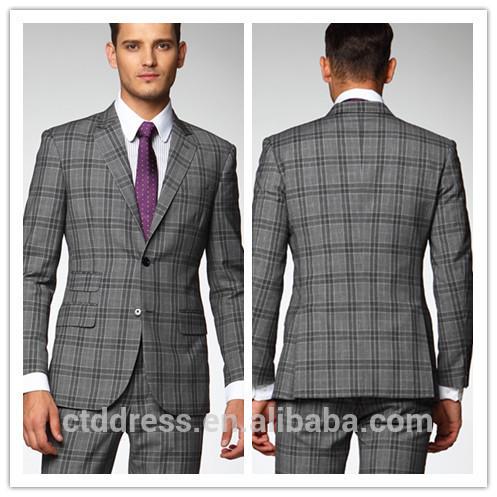 da23d9620e64 Custom made ctddress marque formelle. prix usine à carreaux gris dernière  conception manteau et pantalon