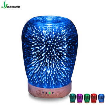 Factory Ultrasonic cool mist humidifier fragrance ultrasonic mist maker with 3D effect for home