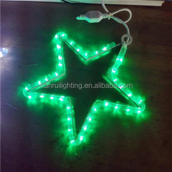 Home/garden/Street led star motif lighted outdoor christmas decorations