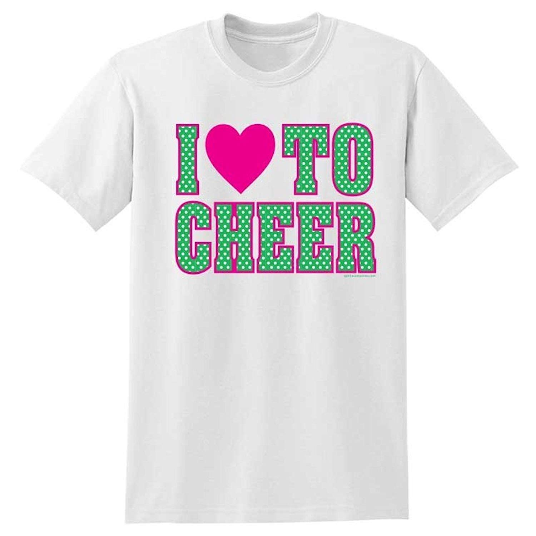e8f400da Get Quotations · Spirit Accessories I Heart To Cheer Cheerleading T-Shirt