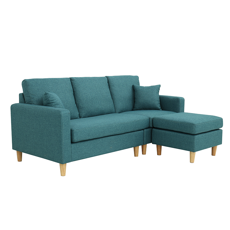 simple modern Solid wood frame living room sofa with Durable fabric