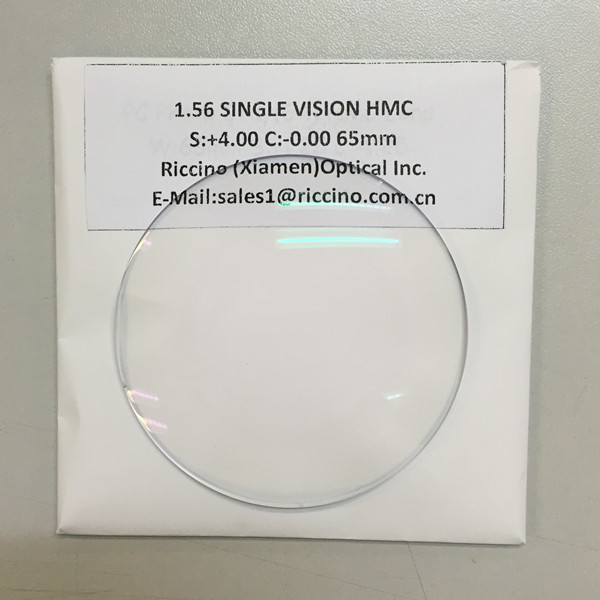 1.56 single vision lentes optica ophthalmic lenses with HMC coating