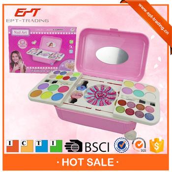 Top Quality Kids Play Nail Art Makeup Sets Plastic Toy Makeup Set