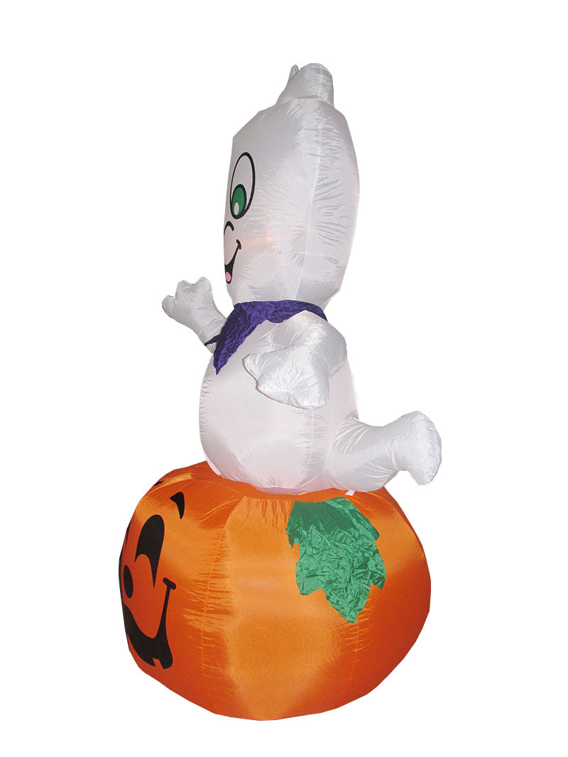 9ft High Giant Halloween Inflatable Pumpkin And Ghost Balloon With ...