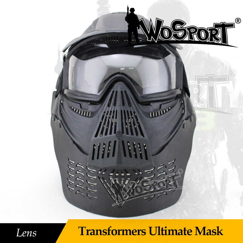 Fashionable design PC lens face motorcycle sport helmet trainning mask for sale