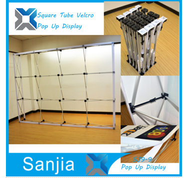 Custom tension fabric pop up display stands, Pop up banner stands