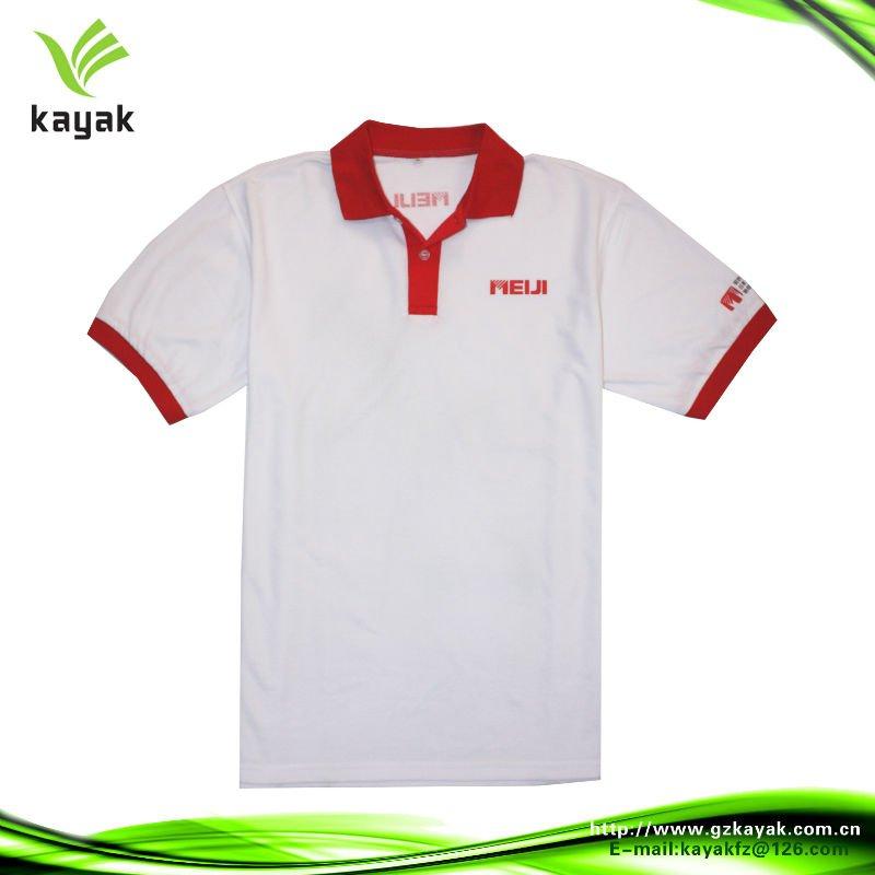 599fb24fb6 impresso camisa polo personalizada com gola vermelha e cuffes ...