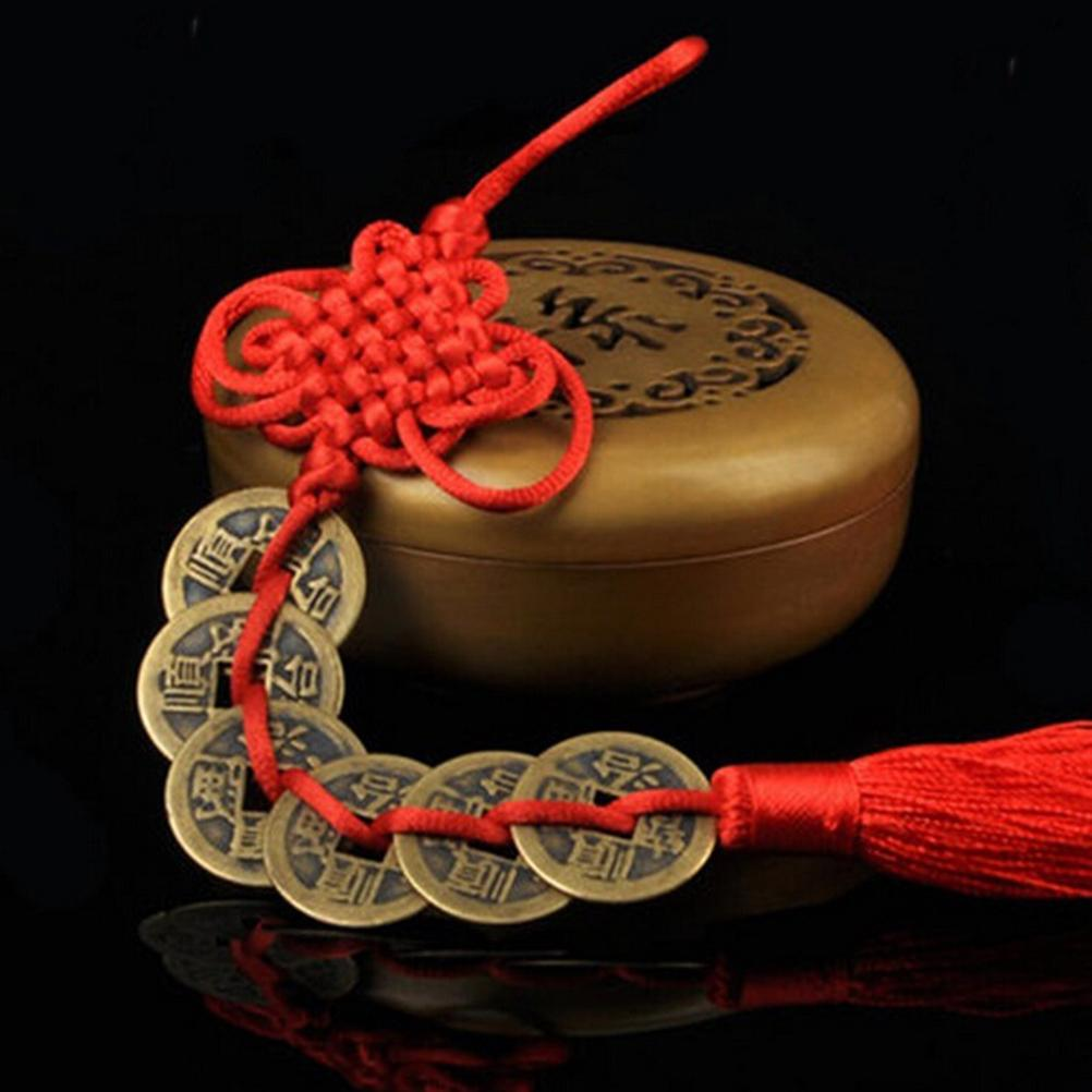 FENG SHUI-CHINESE KNOT WALL CAR HANGING ORNAMENT-LOTUS COIN-LIFE LONG PEACE SAFE