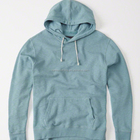 Custom Men's Light Blue Plain Cotton Hoodies