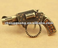 2012 fashion newest design gothic gun ring jewelry