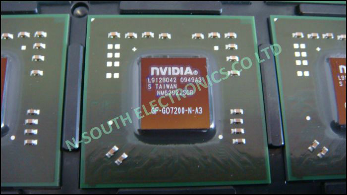 wholsale brand new video chipest for NVIDIA gf-go7200-n-a3 production date: 2009 49+