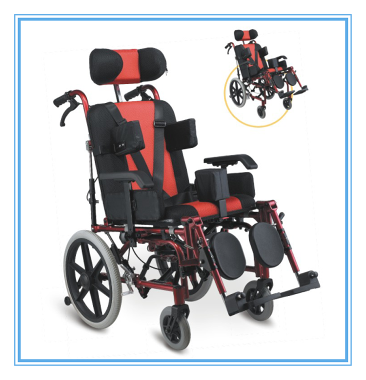 Aluminium Adapting Reclining Cerebral Palsy Wheelchair for Children--CE FDA approved