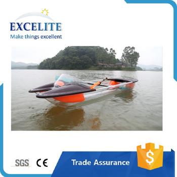 transparent kayak crystal clear electric 2 person remote control