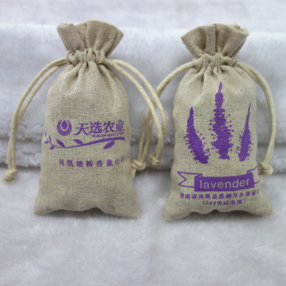 Natural Food Grade Packaging Linen Sachets Bags For Lavender