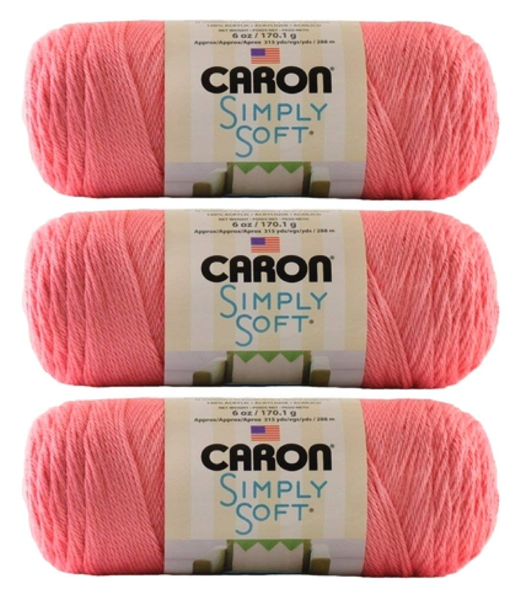 Bulk Buy: Caron Simply Soft Collection Yarn (3-Pack) Strawberry H97COL-15