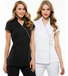 Newest 100% cotton Ladies Zen Crossover Tunic uniform