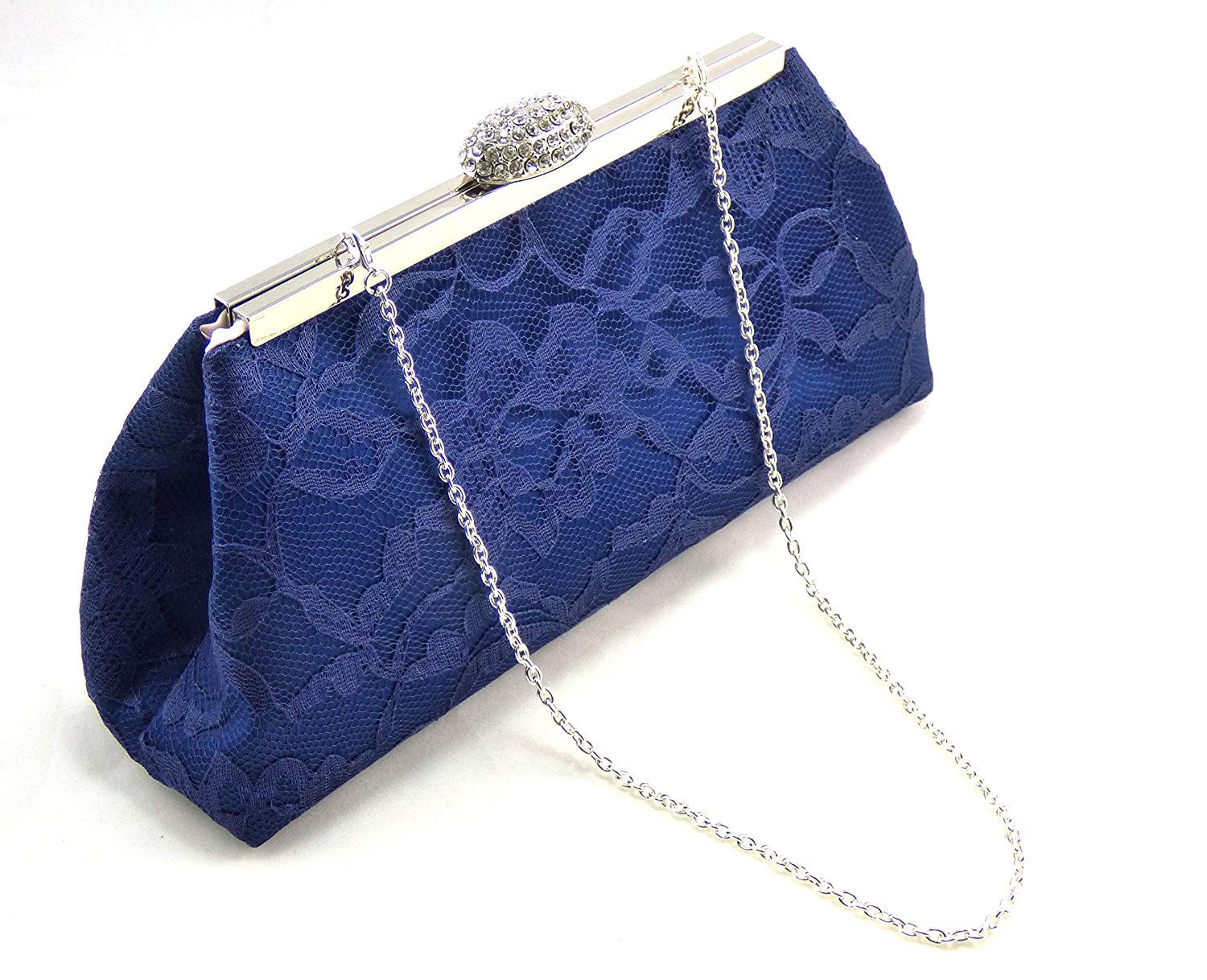 Navy Blue and Blush Bridal Clutch, Something Blue, Bridesmaid Gift, Mother of the Bride Clutch, Bridesmaid Clutch