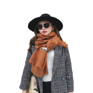 New Arrival Winter Knitting Scarf Mix Color Blanket Napping Cashmere scarf Women Thick Shawl Pashmina In Various Colors