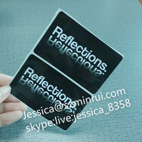 Custom Self Adhesive Printable Rectangle Waterproof Transparent Vinyl Stickers Plastic Print Decal Clear Bottle Label