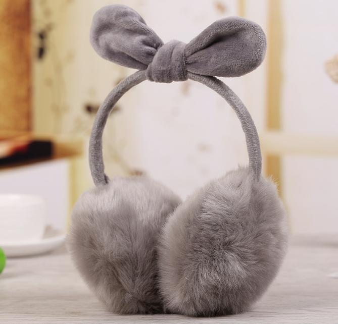 Winter autumn wholesale rabbit plush ear muff