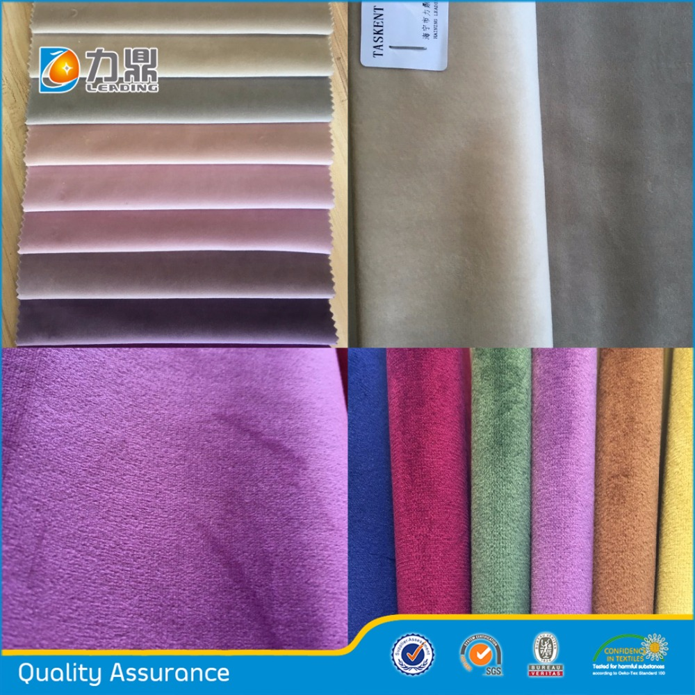 Chine Polyester Velours Tissu Velours Canapé Tissu D'ameublement