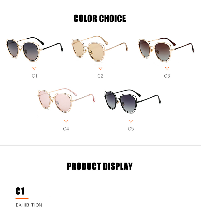 Wholesale Private Label Cat 3 UV400 Protection TAC 2019 Oversize Women Trendy Polarized Sunglasses
