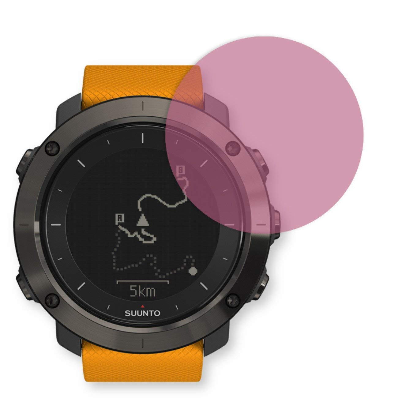 GOLEBO Screen Film for Privacy protection pink for Suunto Traverse - PREMIUM QUALITY
